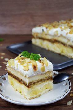 Bananowa krówka (bez pieczenia) ! Cold Desserts, Sweet Desserts, No Bake Desserts, Eat Dessert First, Dessert Bars, Cake Recipes, Dessert Recipes, Dessert Decoration, Food Inspiration