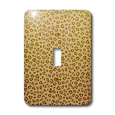 Gold Ombre Leopard Print - Light Switch Covers - single toggle switch
