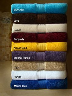 30x54 Luxurious Bath Towels By Crown Jewel , 18 Lbs Per Dz, 100% Giza Egyptian Cotton. North America Made.