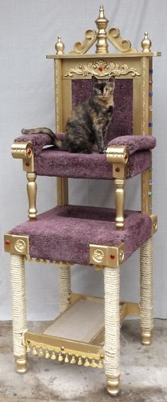Square Paws designs and builds one-of-a-kind sculptural pieces for your home that also double as cat condos.