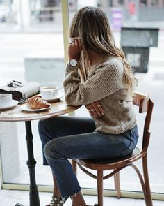 Cozy morning in our Carrie knit. ☕️ | shopsincerelyjules.com