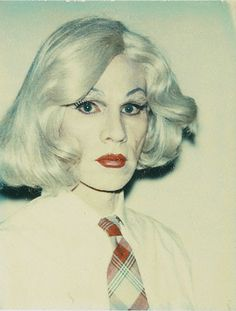 Andy Warhol, Self-portrait in Drag