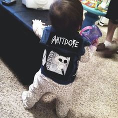 There's my future kid guys! Punk Rock Baby, Minor Threat, Punks Not Dead, Psychobilly, Little Monsters, Nocturne, Love And Light, Pretty Cool, Awesome Stuff