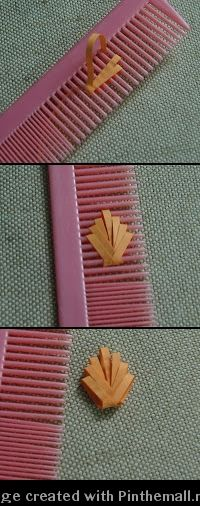 (Part 2 of 2)---written directions on post---http://papercraftss.blogspot.com/2010/08/quilling-comb.html