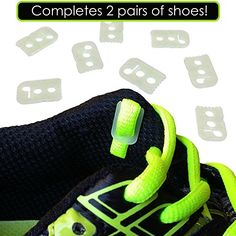 No Tie Shoelace Locks - Lace Anchors 2.0 - Never Tie Your Shoes Again(Completes 2 pairs of shoes) Lace Anchors http://www.amazon.com/dp/B00JOMBZQ8/ref=cm_sw_r_pi_dp_AcLUwb1XZ3SSP