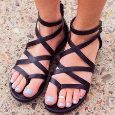 Jeta Gladiator Sandals - Black