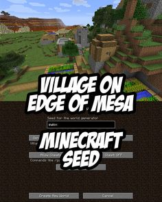 Explore the mesa biome with a blacksmith village directly behind you in this Minecraft Seed for PC/Mac. Mesa, river and plains biomes at game spawn. Cool Minecraft Banners, Pc Minecraft, Minecraft Cheats, Minecraft Decorations, Minecraft Construction, Minecraft Tutorial, Minecraft Blueprints, Villa Minecraft, Minecraft Creations