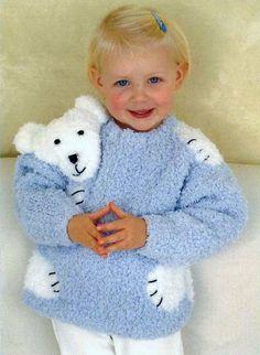 Elephant Sweater, Animal Sweater, Baby Boy Knitting, Knitting For Kids, Knitted Baby Cardigan, Knitting Supplies, Sweater Knitting Patterns, Baby Sweaters, Vintage Knitting