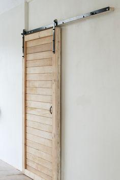 Reclaimed Meranti barn door and hardware - Constantia Cape Town