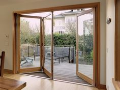 Bring the outdoors in, use a triway bifold door to open up on the beautiful days.