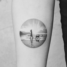 dotwork tattoo landscapes travel dream Amanda Piejak