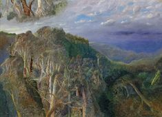 William Robinson • After the storm from Springbrook, study 1998 • Oil on linen • Purchased with funds from the Hamilton Gallery Trust Fund, with additional support from Allan Myers AC QC & Maria Myers AC • 2018.021 #OilPainting #AustralianArt