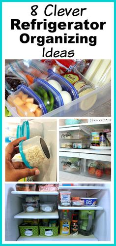 8 Clever Refrigerator Organizing Ideas- Hacks to Gain Fridge Space! You don't need a bigger fridge, you just need to reorganize the one you have! Check out these clever refrigerator organizing ideas and gain fridge space! Declutter Your Home, Organizing Your Home, Organizing Ideas, Organisation Hacks, Refrigerator Organization, Pantry Organization, Kitchen Refrigerator, Fridge Storage, Organized Pantry