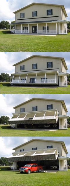 Porch facade garage door - OMG!