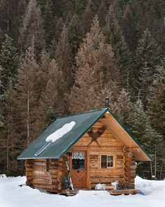 cougar ridge cabin in winter