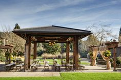 "Outdoor wedding ceremony area | Weddings In Woodinville 2015 - Willows Lodge "" Feast and Merriment in the Garden"" 