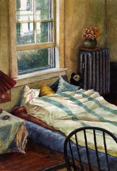 """Prospect Street Bedroom"" - by Belinda Del Pesco Interior Paint, Interior And Exterior, Prospect Street, Ap Studio Art, 2d Design, Through The Window, Open Window, Art For Art Sake, Windows"