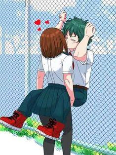 My Hero Academia? Please correct me. Am I wrong? Kpop Anime, Me Anime, Anime Love, Anime Art, Yandere, My Hero Academia, Couple Manga, Deku X Uraraka, Fan Art