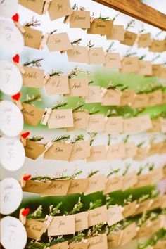 15 Unique Ways to Help Your Wedding Guests Find Their Seat via Brit + Co