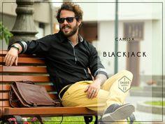 Camisa BLACKJACK  100% Algodón Pima Slim Fit  Tallas: S - M - L   Encuéntrala en: -Showroom (previa cita) -Vernacula    +Delivery gratis a todo el Perú.