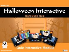 Halloween Interactive Team Music Quiz Teaching Resources, Musicals, Seasons, This Or That Questions, Halloween, Four Seasons, Halloween Labels, Spooky Halloween