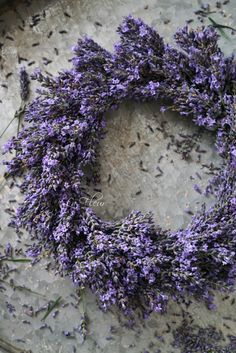 Lavender Provence Wreath.
