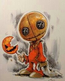 Sam from trick 'r treat. Commission piece from a few weeks ago. Trick Or Treat Movie, Sam Trick R Treat, Horror Movie Quotes, Horror Films, Halloween Horror, Halloween Art, Horror Artwork, Horror Monsters, Halloween Greetings