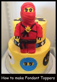 Ninjago Cake! -  My son would have loved this cake for his last birthday! We went with a square blue lego block instead :)