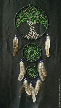 °Tree of Life DreamCatcher by Elizabeth Bathory ~ Купить Ловцы снов … Los Dreamcatchers, Dream Catcher Art, Dream Catcher Mobile, Beautiful Dream Catchers, Craft Projects, Projects To Try, Crochet Dreamcatcher, Diy And Crafts, Arts And Crafts
