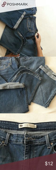 Jeans (CAPRI) This is a lot of 3 pair of Capri jeans. They are in great shape and all size 14. Jeans Ankle & Cropped