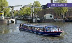Blue Boat Company - Hard Rock Cafe: Amsterdam: ontdek de prachtige en historische hoofdstad met een rondvaart van 75 minuten