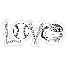 Baseball stickers featuring millions of original designs created by independent artists. Softball Tattoos, Softball Shirts, Softball Mom, Baseball Mom, Softball Cheers, Softball Pitching, Fastpitch Softball, Softball Players, Baseball Games For Kids