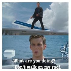 Yeah, Seaweed Brain. You can't just go walking on your evil nemesis's roof. It's uncivilized.