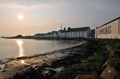 April sunset at Laphroaig distillery, Isle of Islay
