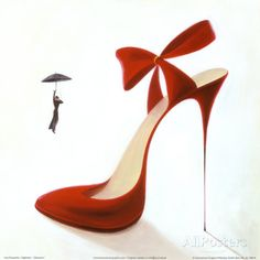 Highheels, Obsession Posters by Inna Panasenko Red High Heel Shoes From a Series… Red Shoes, Cute Shoes, Me Too Shoes, Shoes Heels, Pumps, Red High Heels, Sexy Heels, Womens High Heels, High Shoes