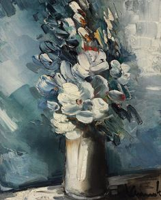 Vase with Flowers 09, by Maurice de Vlaminck (French, 1876-1958),
