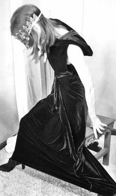 #gogoginaclothing #velvet envelope wrapdress with hood