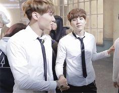 YoonSeok holding hands (2)