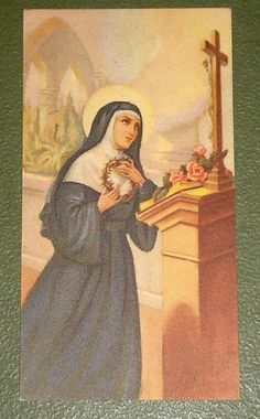 St Rita of Cascia Old Holy Card