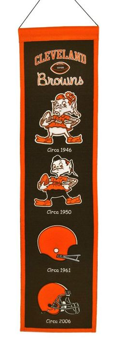 Cleveland Browns Banner 8x32 Wool Heritage