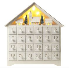 Wooden Christmas Scene Advent Calendar With Led Lights by LittleEmpireHomeware on Etsy Wooden House Advent Calendar, Advent House, Advent Calenders, Christmas Decorations, Holiday Decor, Christmas Ideas, Handmade Shop, Accent Decor, Xmas