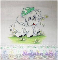 Fralda 13 - Elefantinho | Maytha Arts | Elo7