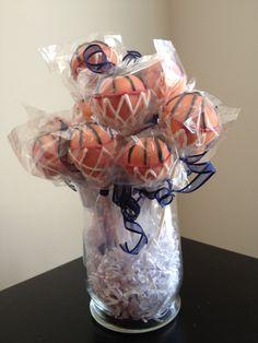 Basketball Cake Pops by jillssweettreats on Etsy, $25.00