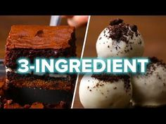 9 Easy 3-Ingredient Desserts - YouTube