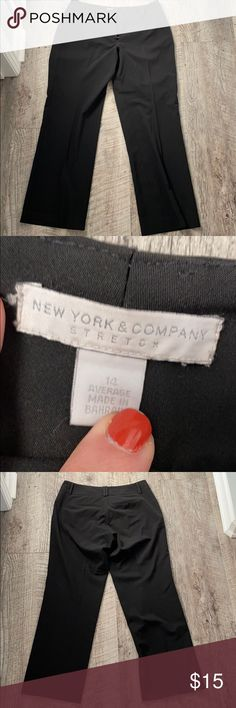 "NY&CO Black Stretch Dress Pants - Size 14 Inseam about 29.5"", EUC New York & Company Pants"