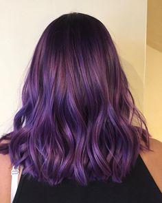 Dark Purple Hair, Lilac Hair, Hair Color Purple, Hair Dye Colors, Cool Hair Color, Color Red, Dyed Hair Purple, Purple Ombre, Purple Balayage