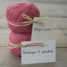 Jute twine cute pink Kruunu vintage & garden www.suunnittelutoimistokruunu.fi/vintage-garden/