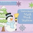 Winter fun! Common Core Standards Correlation Chart helps you to know which kindergarten standards you are meeting with these snowman themed Math W...