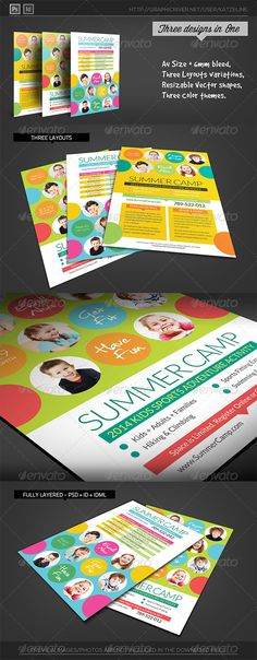 Fresh Summer Camp Fitness Club Flyer Template