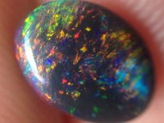 1.05ct Lightning Ridge Gem Black Opal  SOLID BLACK OPAL, MULTI COLOR AUSTRALIAN OPAL GEMSTONE,OPAL FROM AUSTRALIA